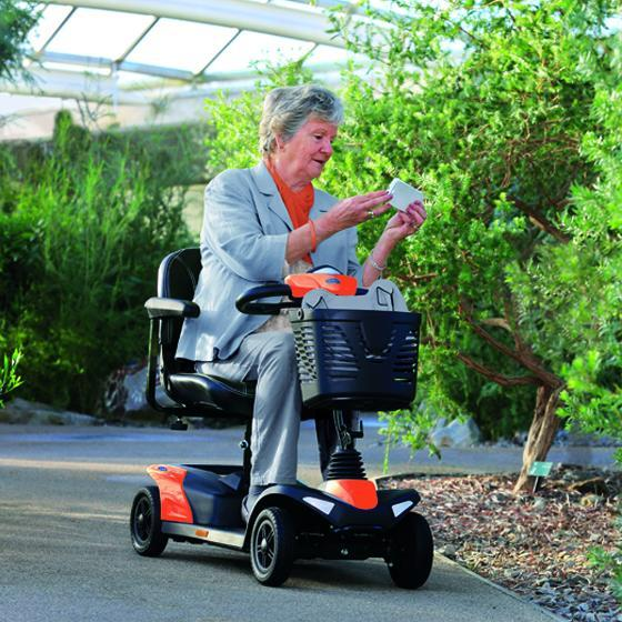 Lady on Invacare Mobility Scooter