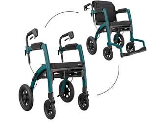 Rollz rollator wheelchair 2 in 1