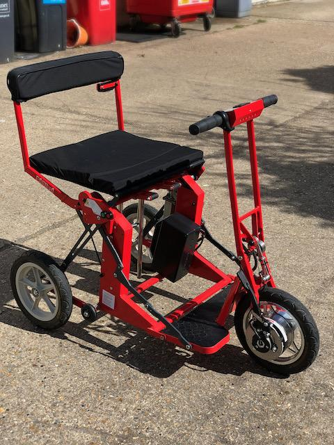 Used Di Blasi Folding Mobility Scooter Red