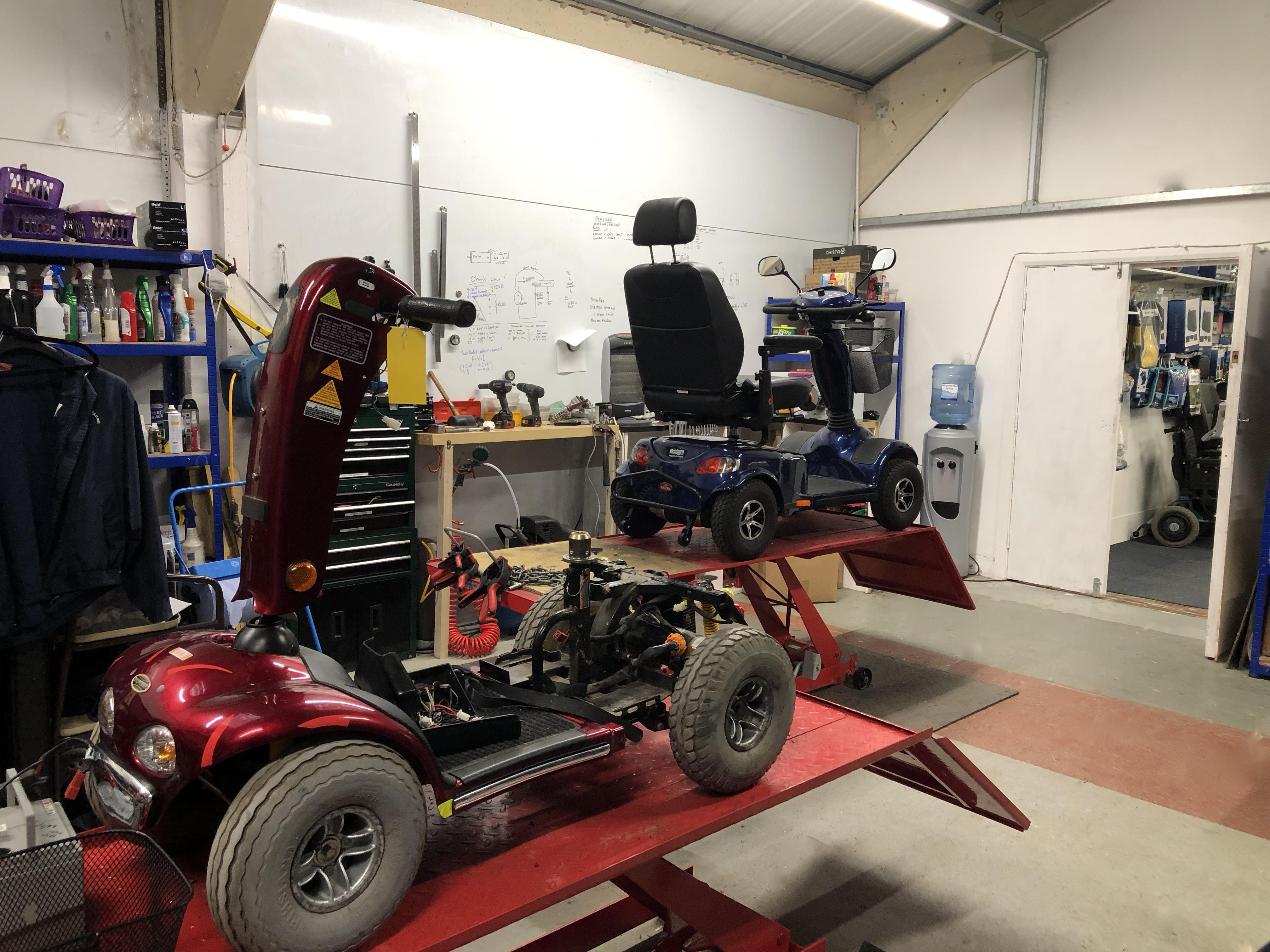 Mobility Scooter being repaired in Margate