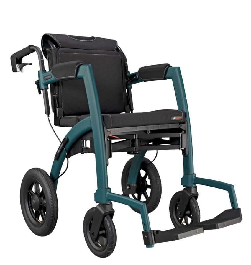 Rollz rollator wheelchair 2 in 1 wheelchair mode