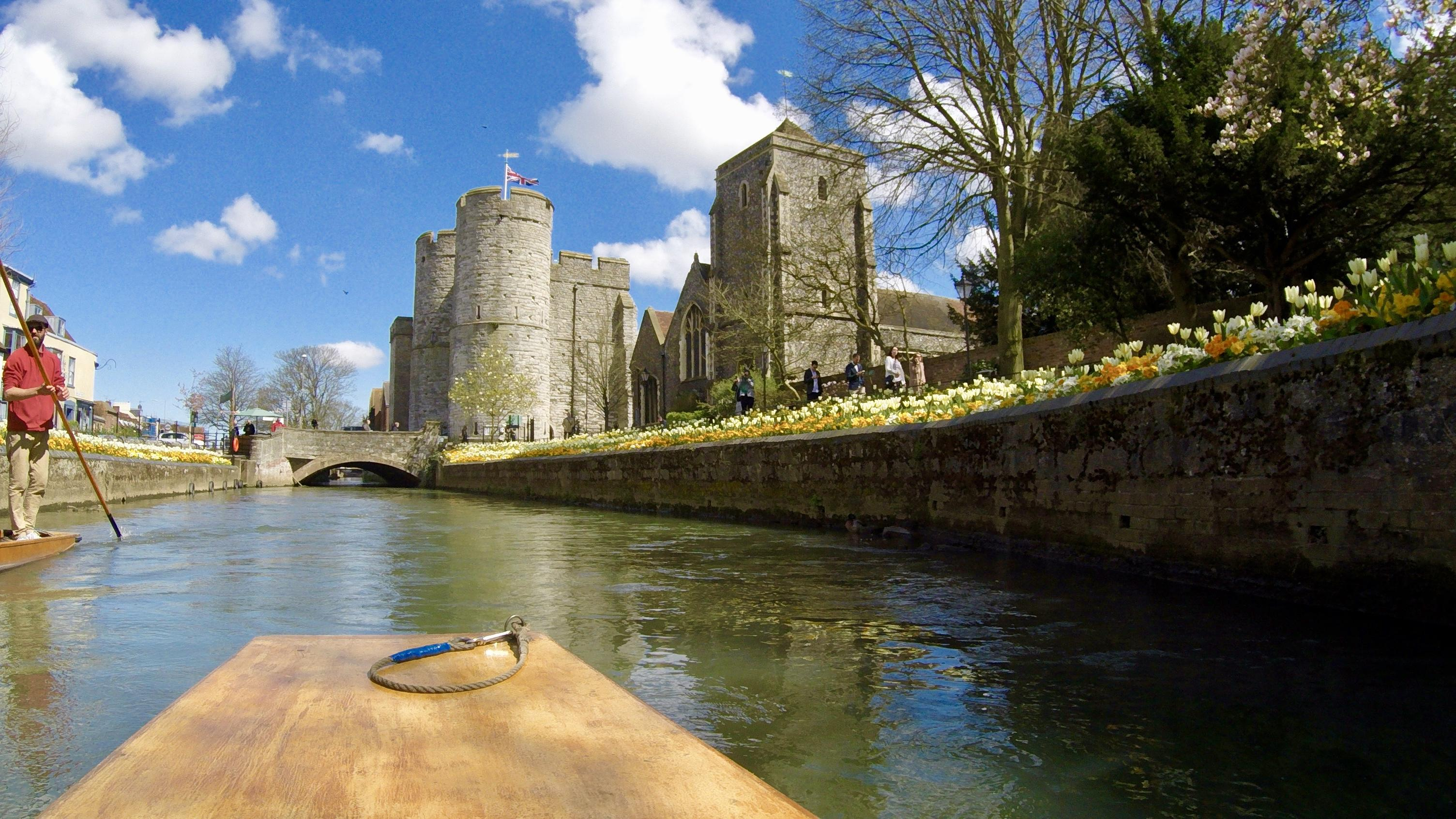 The stour river in Canterbury Kent