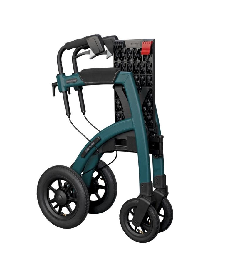 Rollz rollator wheelchair 2 in 1 folded up