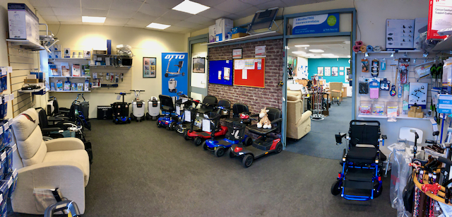 Mobility Showroom with disability products in Thanet
