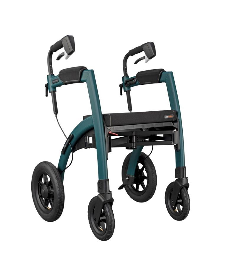 Rollz rollator wheelchair 2 in 1 in rollator mode
