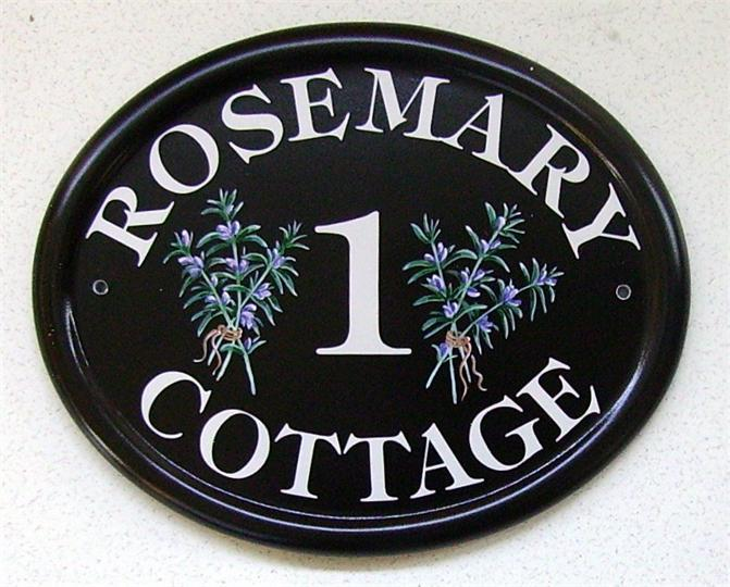 Rosemary cottage name plate