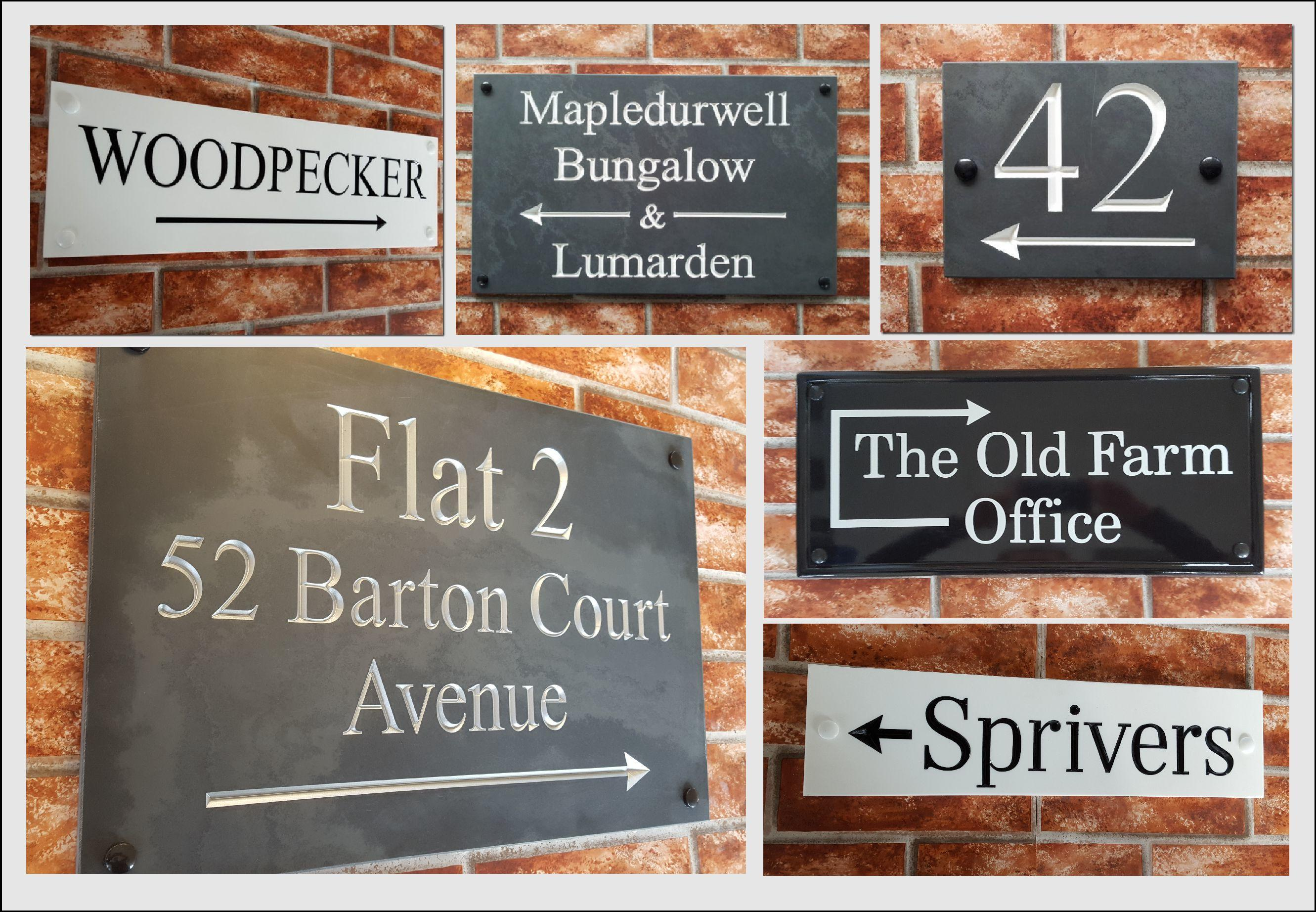 directional house signs with arrows