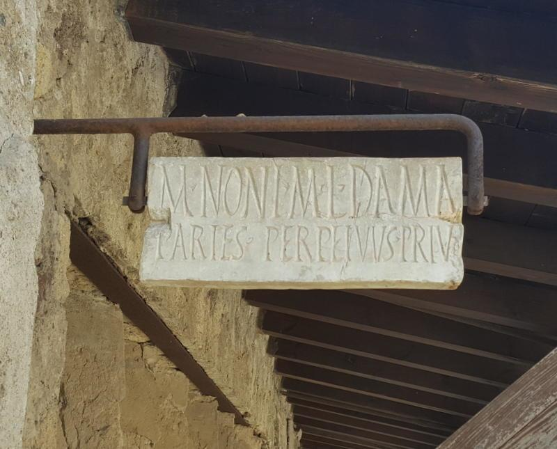 A sign I found in Herculaneum