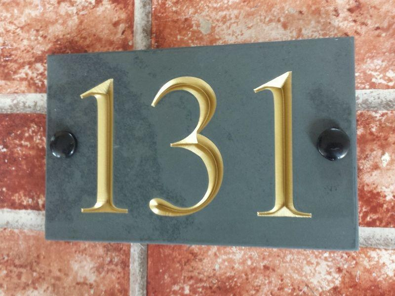 Engraving of 131 with gold inlay