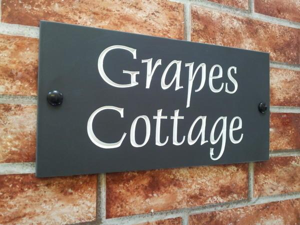 Example of Grapes Cottage with white inlay
