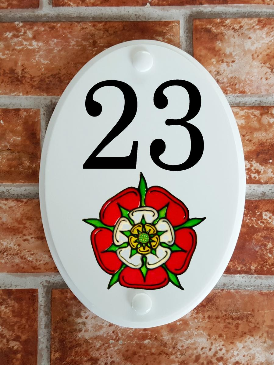 Tudor rose house plaque