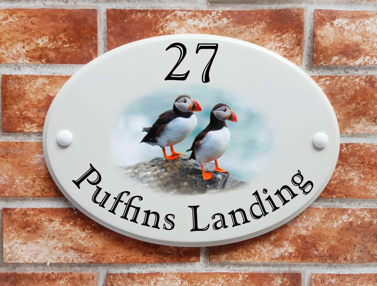 Puffins house sign (Code 083)