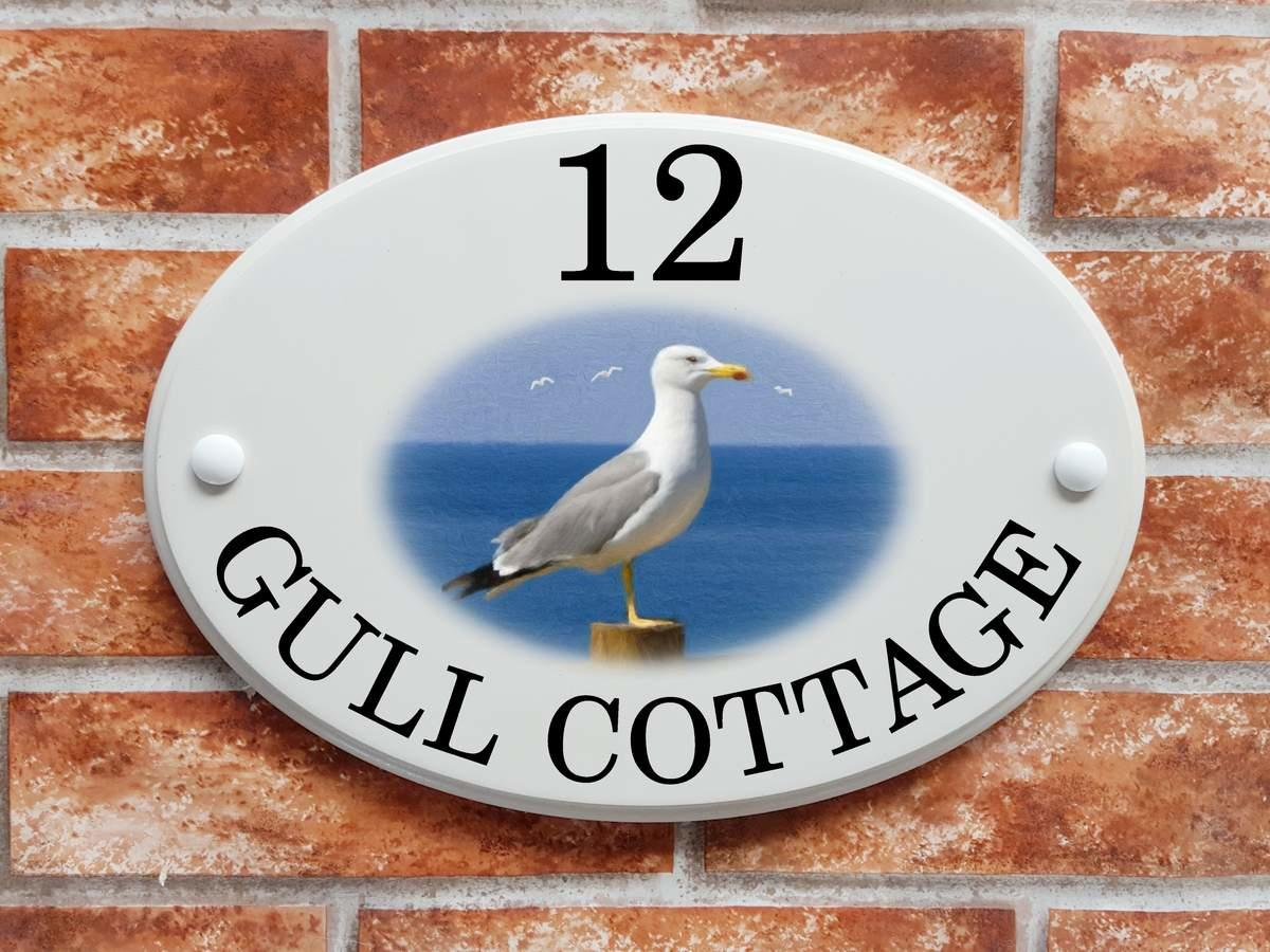 Seagull Cottage sign (code 086)