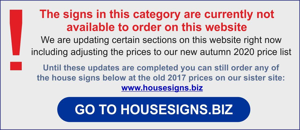 Go to order oval house signs
