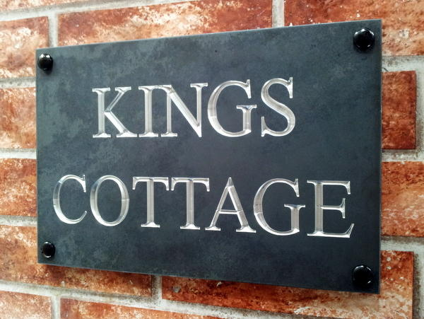 Kings Cottage with chromed silver inlay 300mm by 200mm