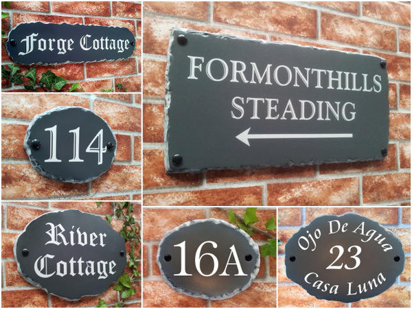 rustic house name and number signs