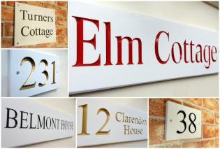 White Engraved Signs