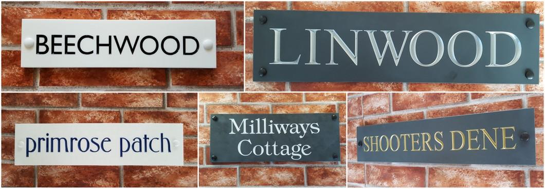 Engrave house name signs