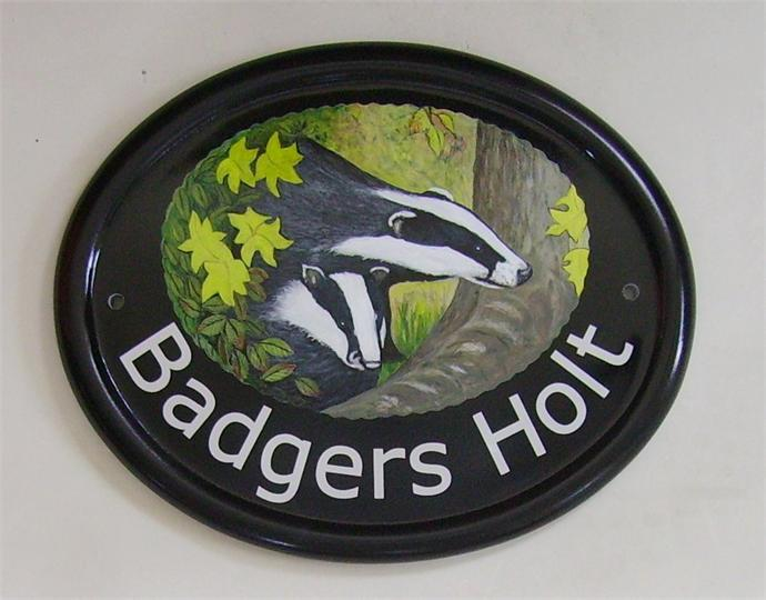 Badgers home name plate