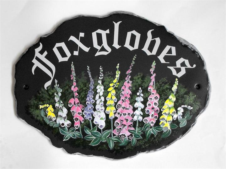 Foxgloves house name signs