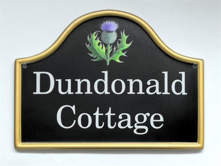 Scottish thistle home name plate