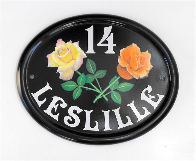 Cultured roses address plaque