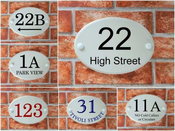 Oval Home Address Plaques