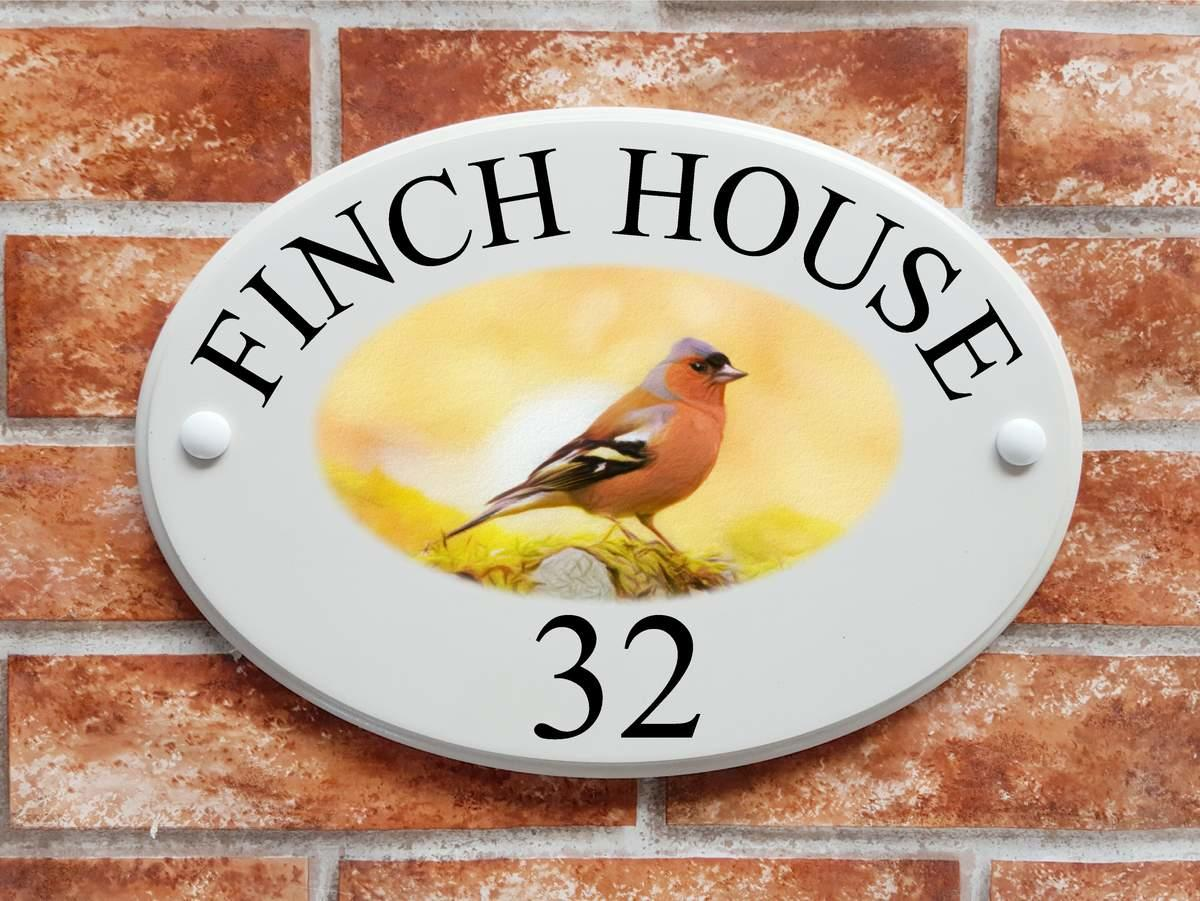 Chaffinch picture house plaque (Code 070)