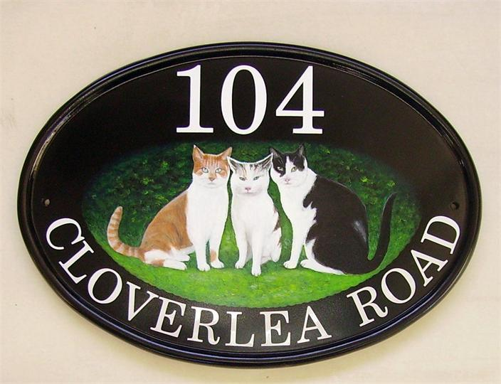 Owners cats sign