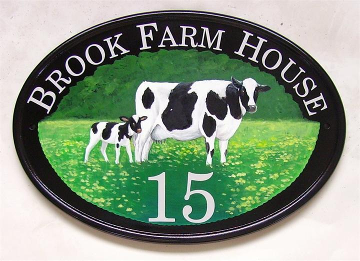 Cow & calf farm plaque