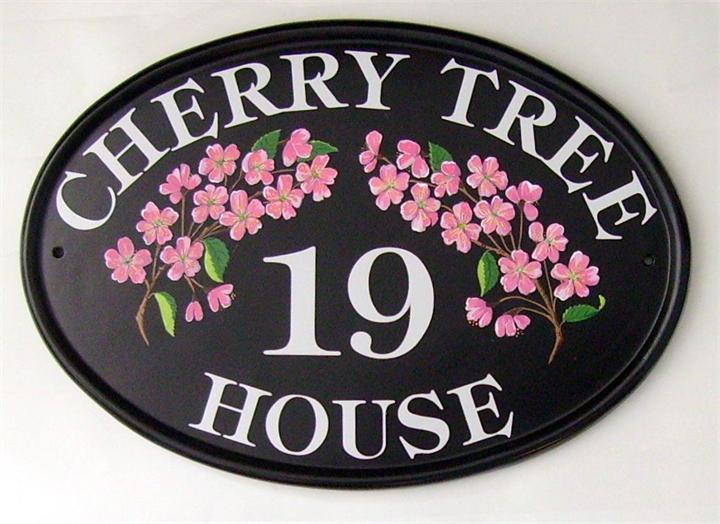 Cherry Tree House Plate