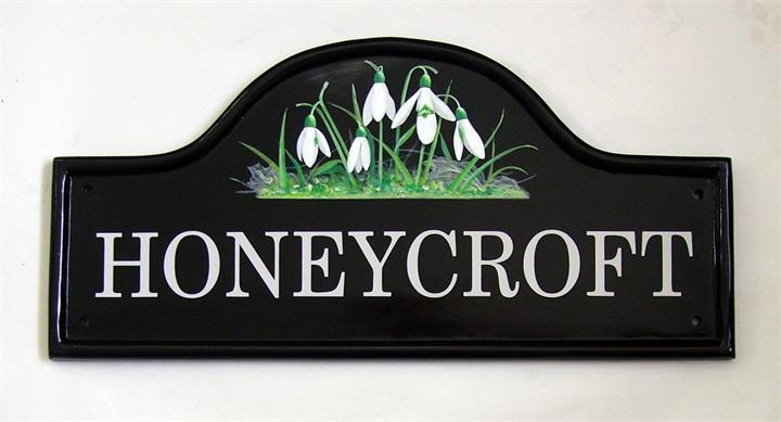 Snowdrops house name signs