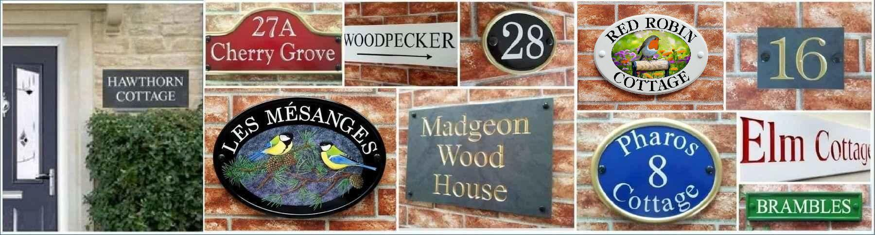 Collage of House Signs by Yoursigns Ltd