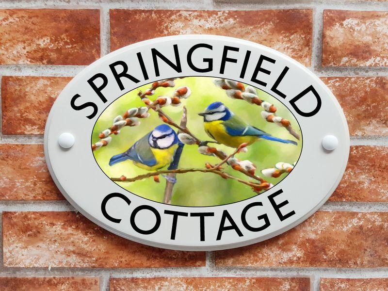 Personalized artistic picture house plaques - wildlife, pets