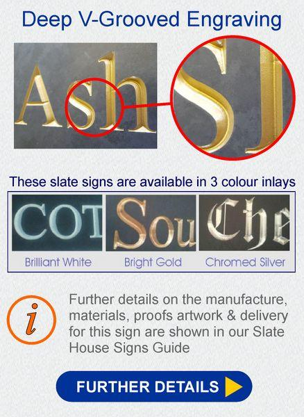 Further details button for the large slate sign product YSSL500300