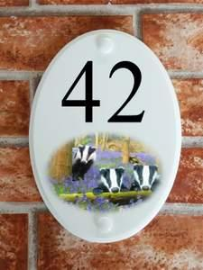 Badgers house number sign