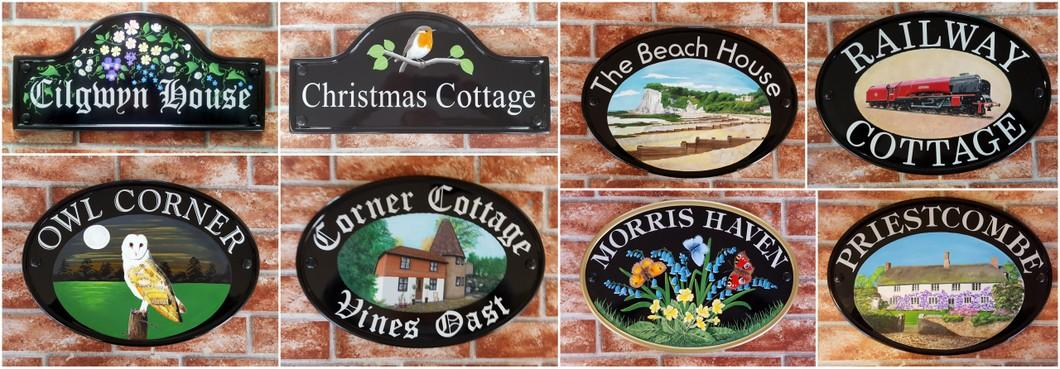 Hand painted signs montage