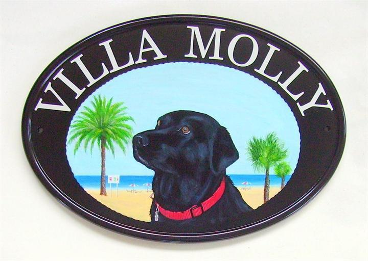 Black Lab name sign