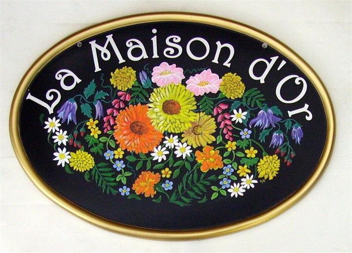 Mixed summer flowers plaque