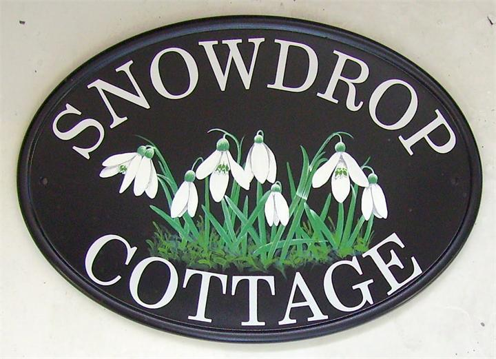 Snowdrops design sign