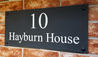 slate house address plaque