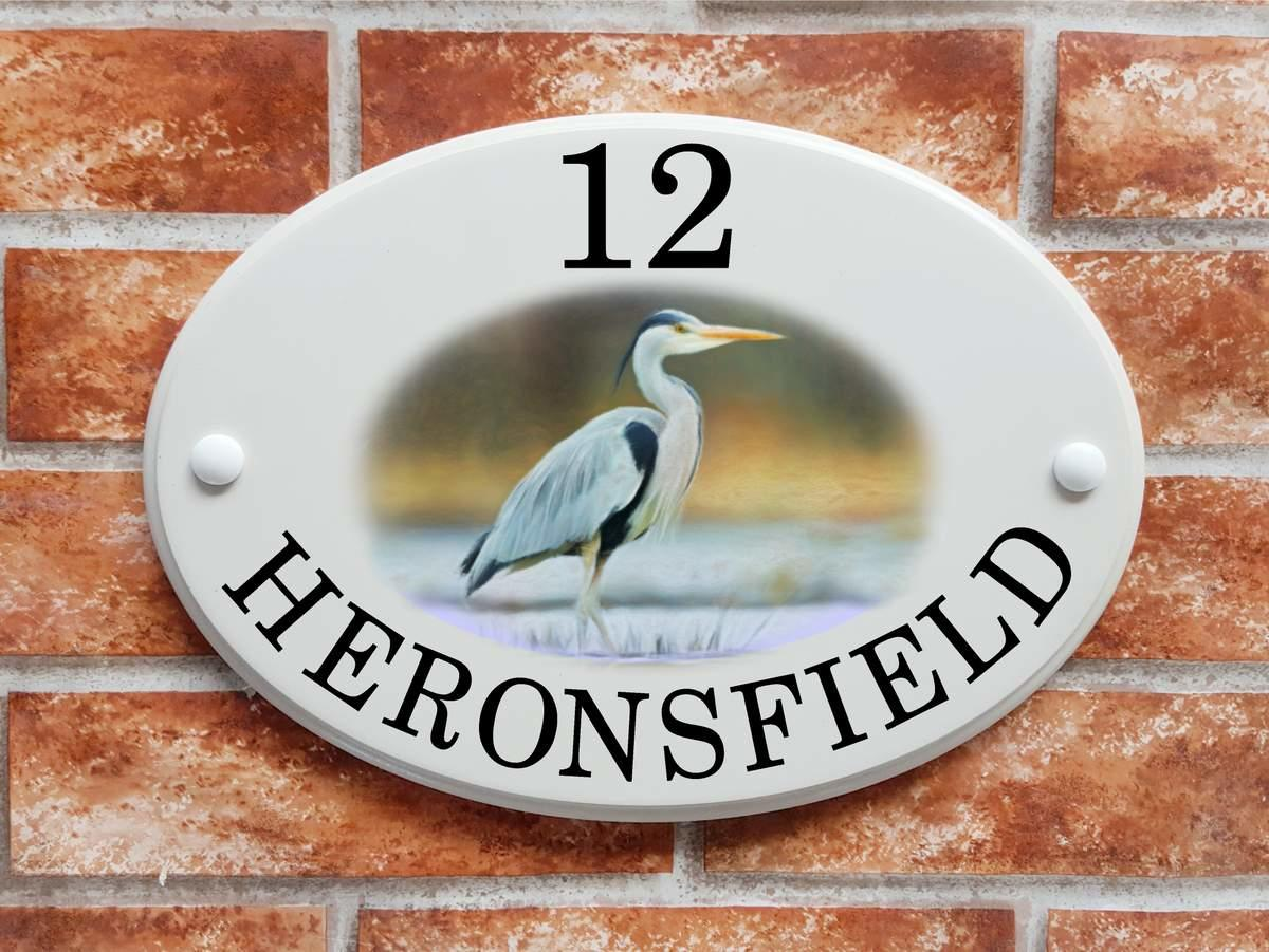 Grey Heron House Plaque (code 068)