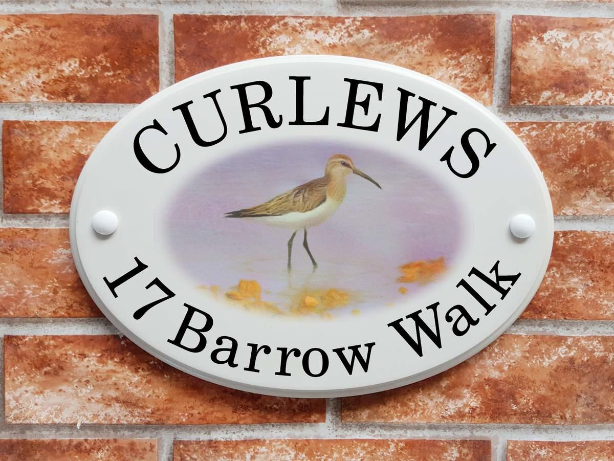 Curlew bird sign (Code 075)