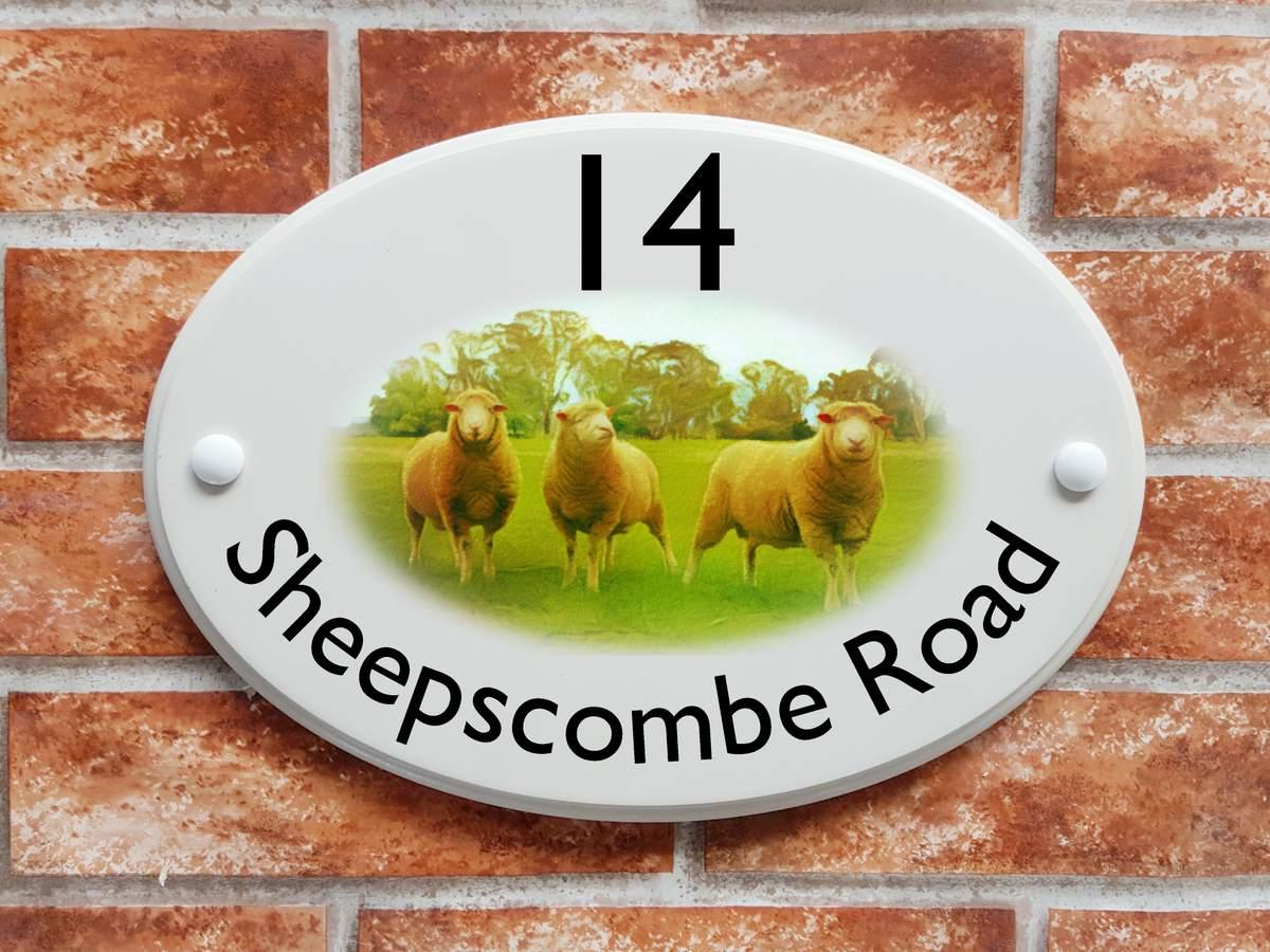 Sheep house plaque (Code 078)