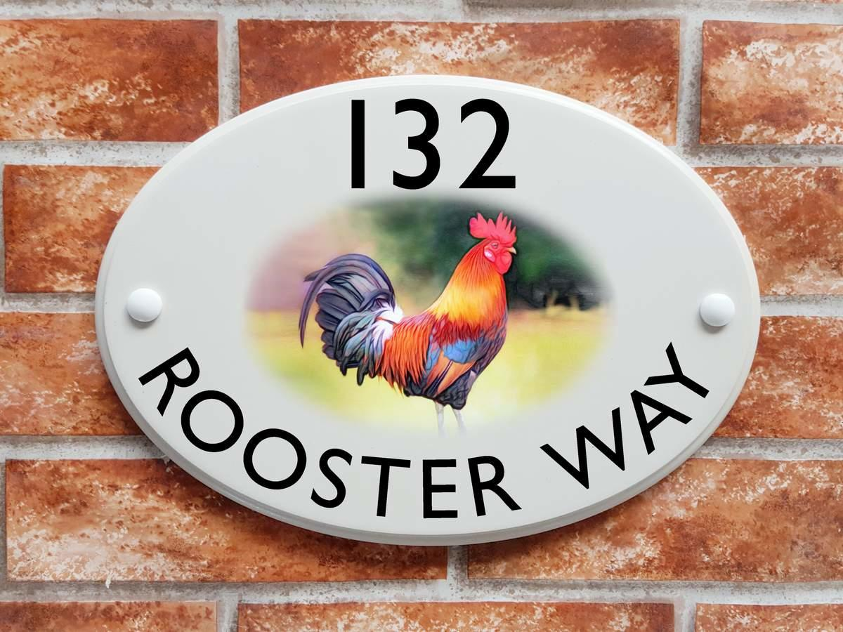 Cockerel Motif Sign (Code 079)