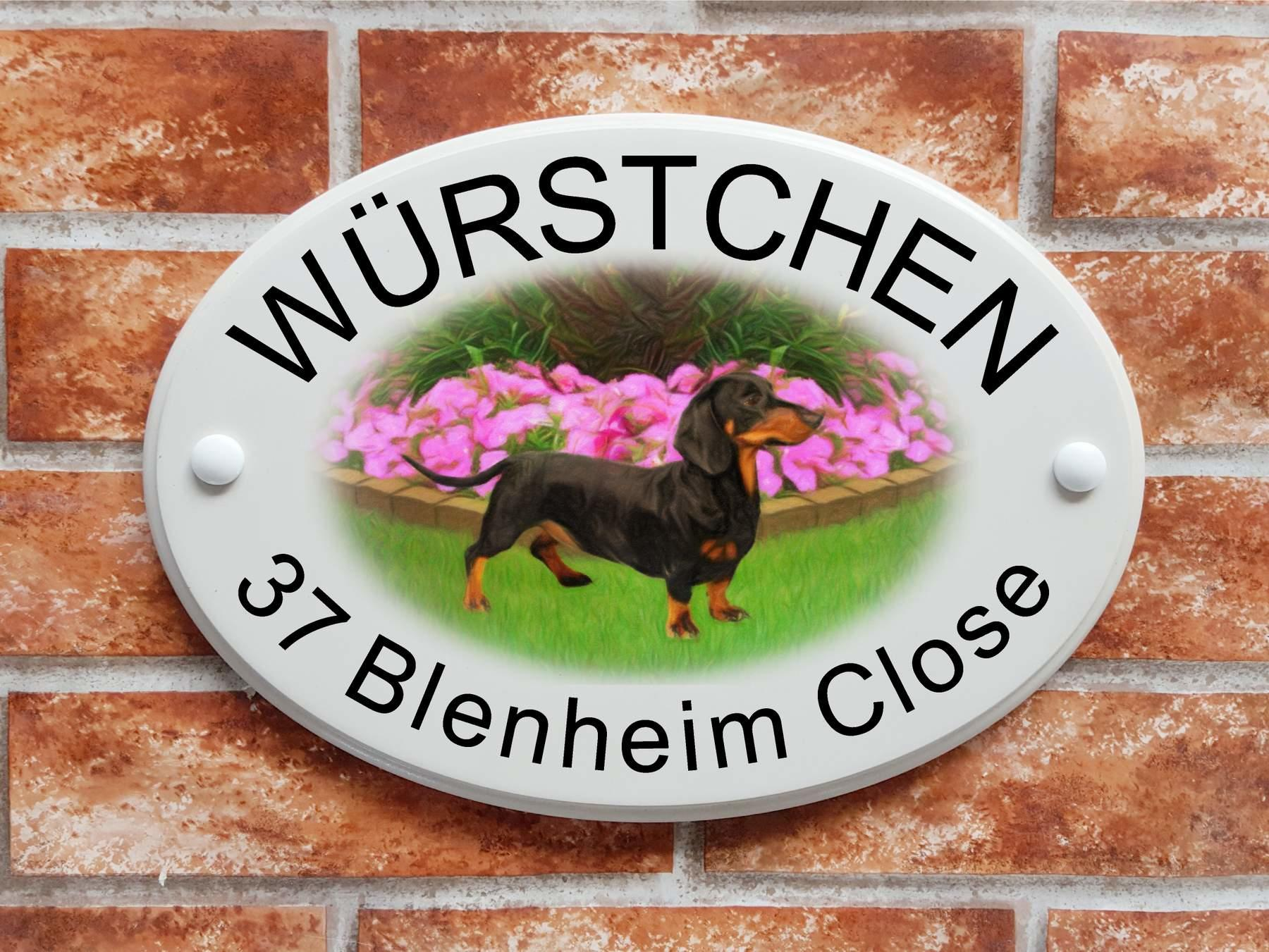 Dachshund sausage dog plaque  (code 090)