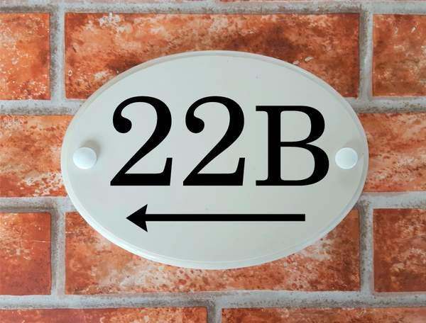 home address sign oval shape
