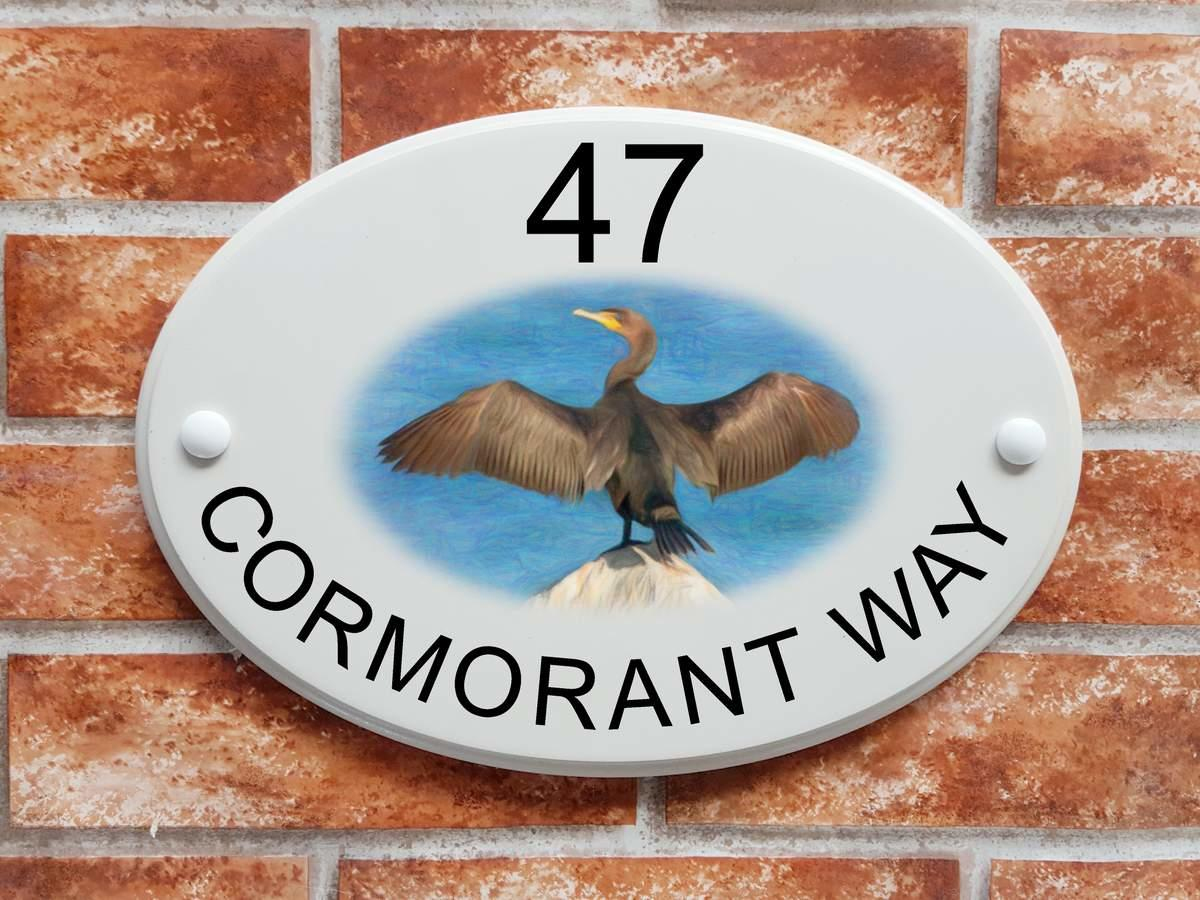 Cormorant Bird Sign (Code 082)