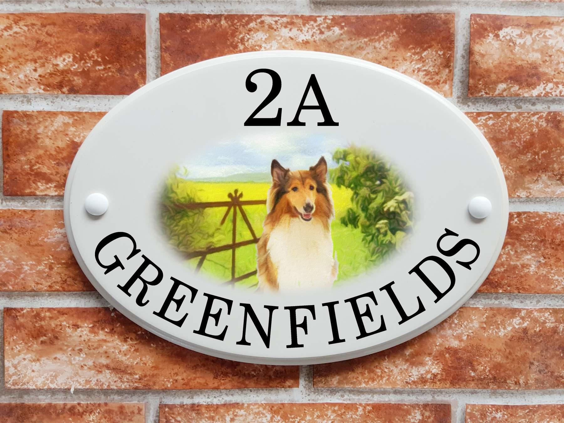 Rough Collie house plaque   (code 091)