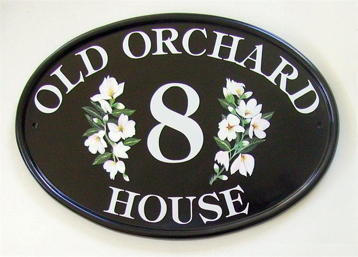 Orchard blossom house name plate